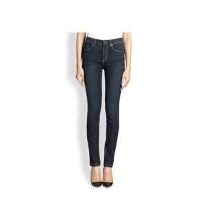 Marc by Marc Jacobs Mid Rise Skinny Jean Dark Wash